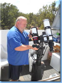 Dave with his lundt solar scope